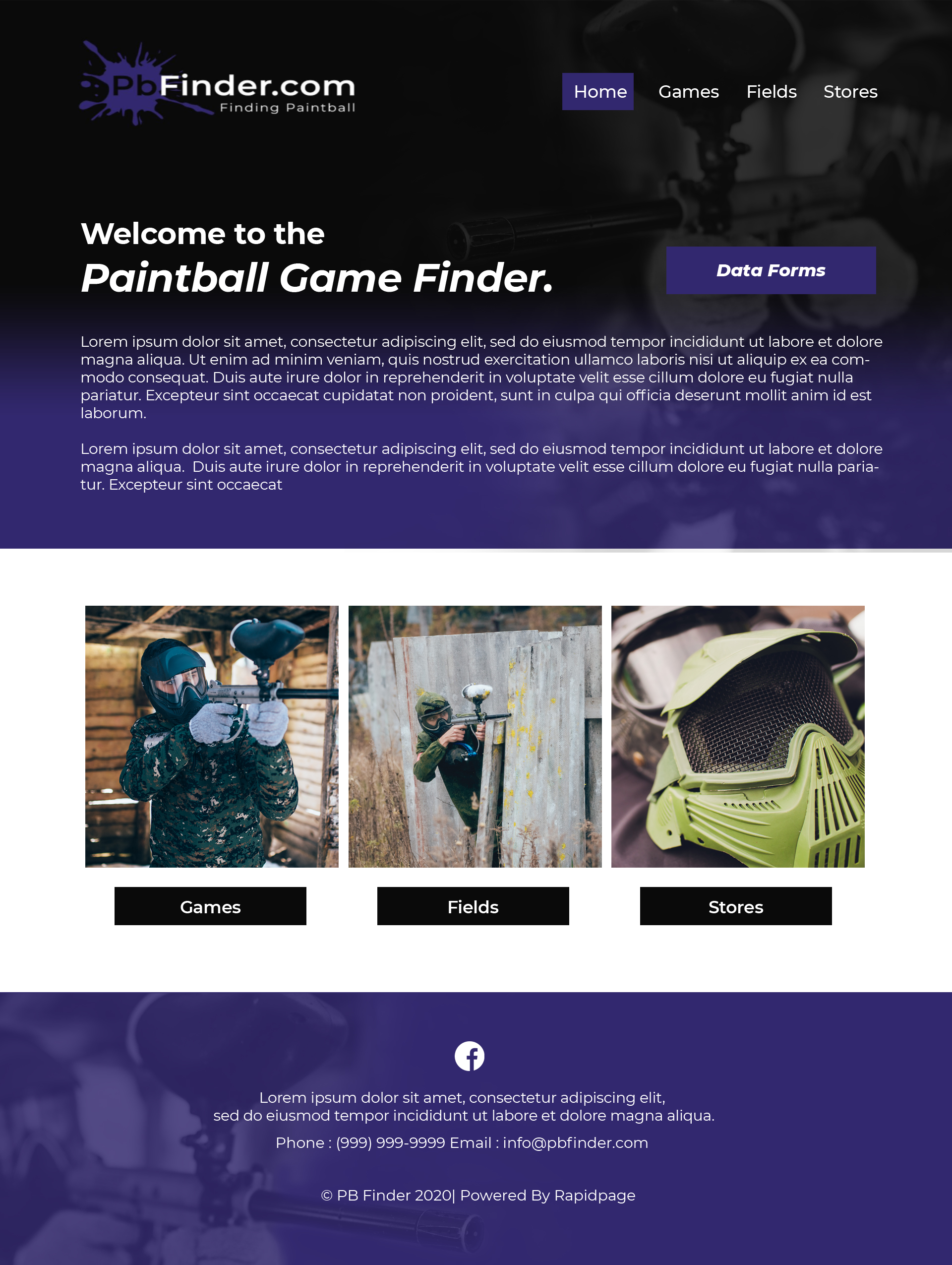 Paintball Game Finder